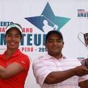 Juan Álvarez y Sofía García, al final los ganadores del Abierto Sudamericano Amateur 2016