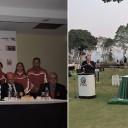 Gran expectativa de los medios locales en la presentación del Campeonato Sudamericano Juvenil de Golf este martes