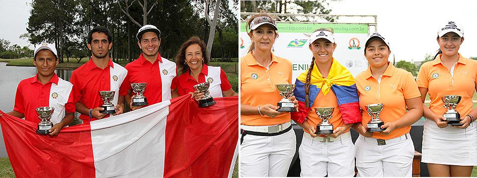 Perú, en caballeros, y Colombia, en damas, se quedaron con los trofeos en el L Campeonato Sudamericano Juvenil 2017