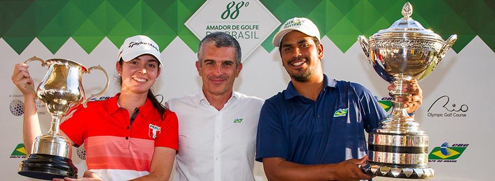 El brasileño Herik Machado y la peruana Micaela Farah, ganadores en el 88 Campeonato Nacional Aficionado de Brasil