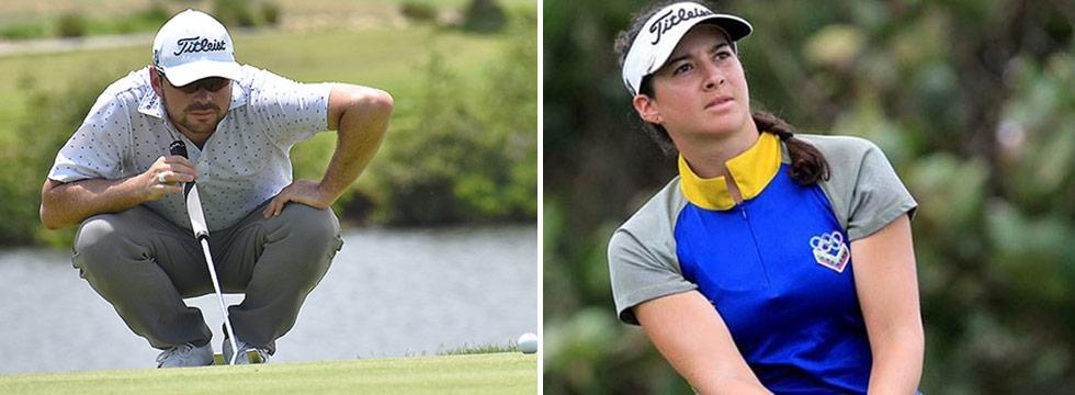 Marcelo Rozo y Alazne Urizar, los ganadores sudamericanos del golf en los Juegos Centroamericanos