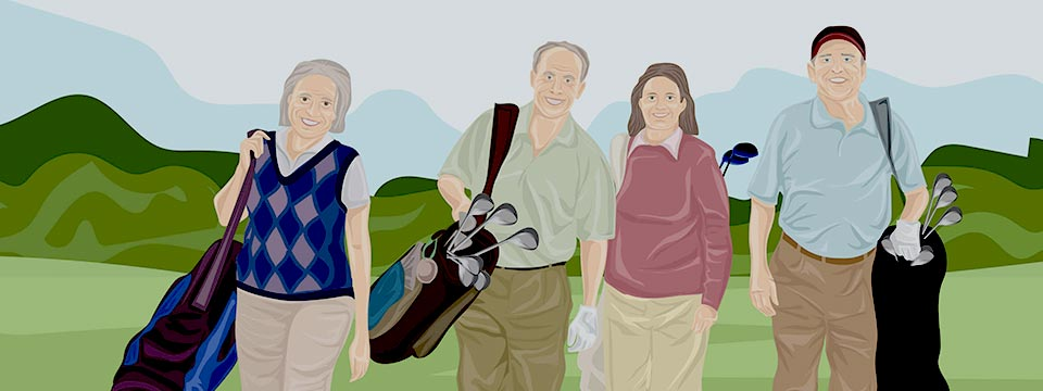 Nuevo estudio demuestra beneficios del golf en la salud en mayores