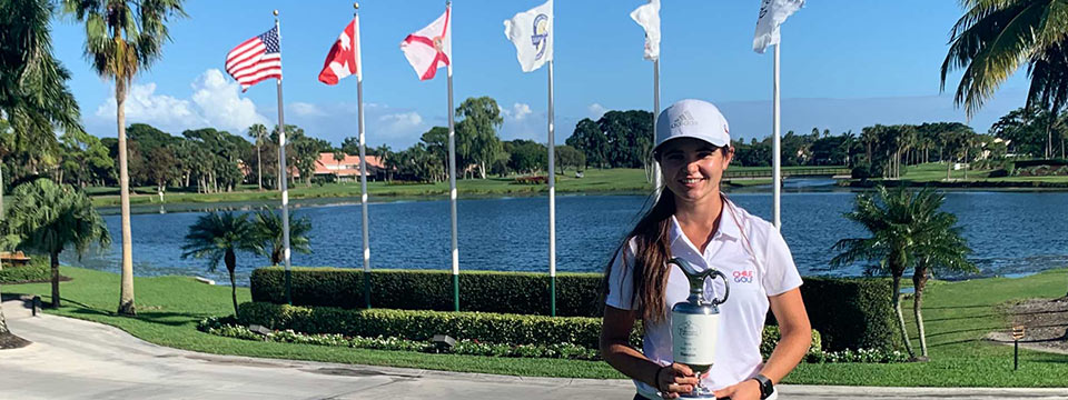 La chilena Antonia Matte, ganadora en el Optimist Tournament of Champions en La Florida