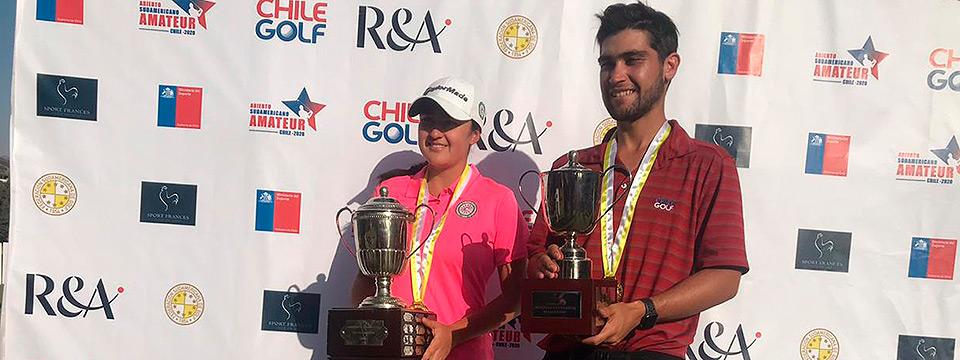 El chileno Benjamín Saiz-Wenz y la colombiana María José Bohórquez, campeones sudamericanos 2020