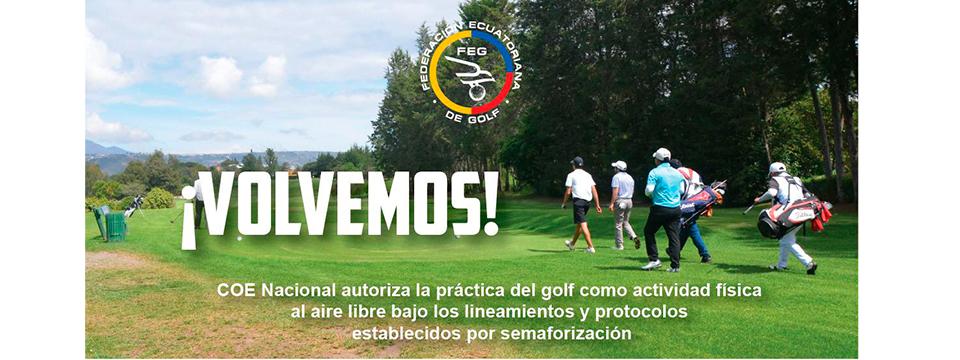 ¡Buenas noticias! Ecuador autoriza el regreso del  golf en julio