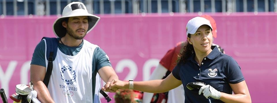 Darquea, la de mejor comienzo para Sudamérica en el golf olímpico